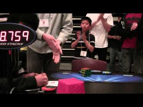 8.75 Rubik's Cube One-Handed World Record single - Antoine Cantin