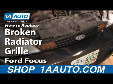 How To Replace Install Remove Broken Radiator Grille Ford Focus 00-04 1AAuto.com