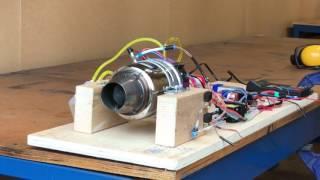 RC jet engine Jetcat p80 se startup