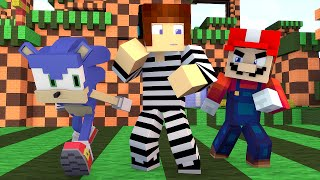 Policia e Ladrão - Desafio do Video Game (Mario Ou Sonic?) !! - Minecraft
