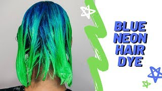 BLUE OMBRE NEON HAIR DYE