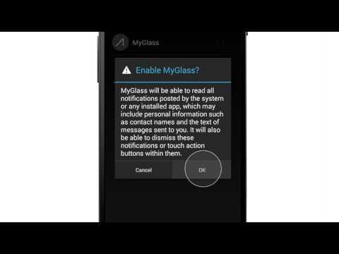 Set up Notification Sync on Google Glass