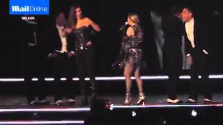 Madonna SEXUALLY ABUSES a fan Madonna exposes a fans breast onstage Brisbane Concert 2016