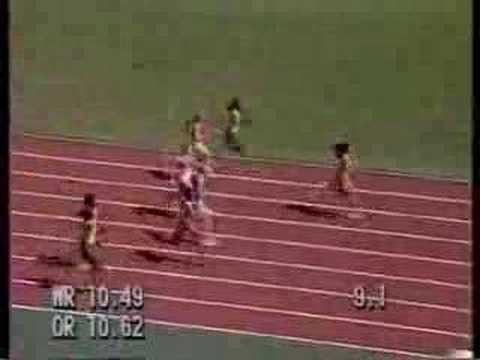 Florence Griffith Joyner 100m final seul 1988