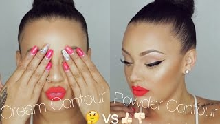 Cream Contour vs Powder Contour | Viva_Glam_Kay