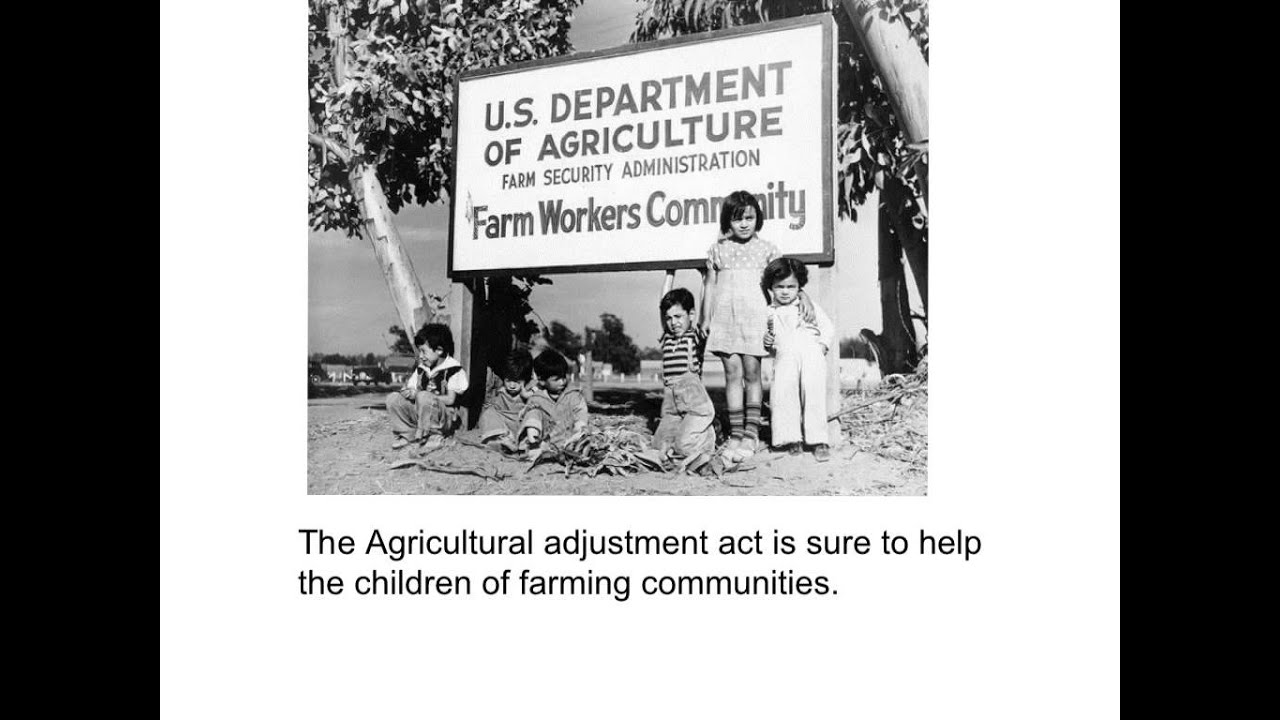Agricultural Adjustment Act - YouTube Agricultural Adjustment Act Posters