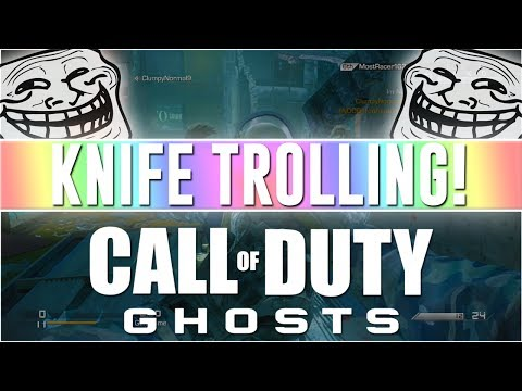 Gun Game Knife Trolling! (call Of Duty Ghosts Funny Reactions) video