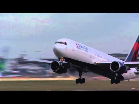 Detla Airlines Take Off, Dublin Airport, Ireland - Unravel Travel TV