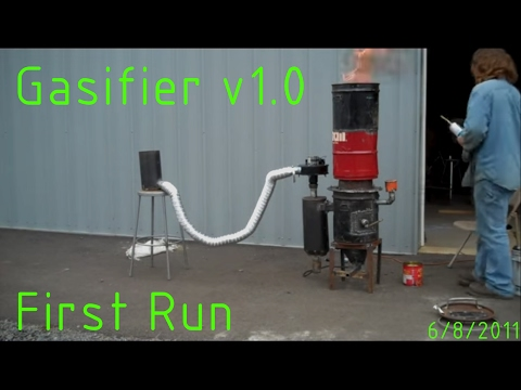 gasifier - first run