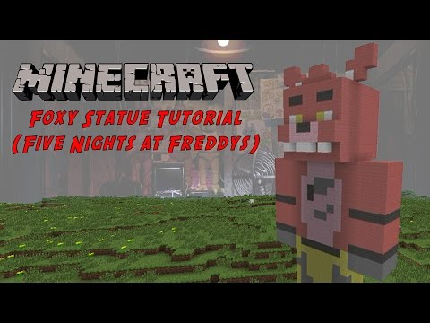 Minecraft Tutorial: Foxy (Five Nights At Freddy's) Statue