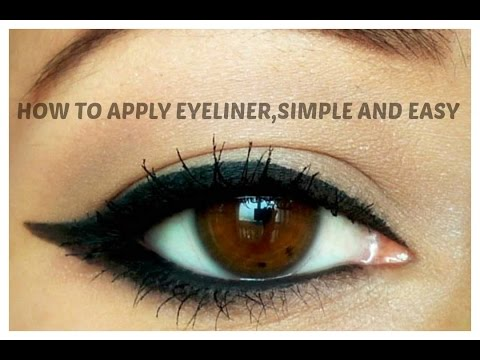 How to apply eyeliner,Simple and easy guide for Beginners/Indian beauty guru