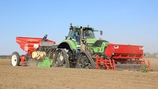 Potato Planting | Deutz Fahr Agrotron 7250 TTV on Soucy Tracks | Modern Farmers