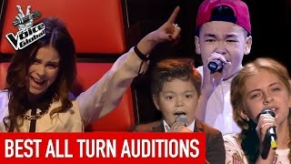 The Voice Kids | Best ALL TURN Blind Auditions worldwide