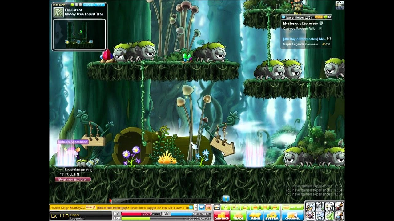 Forest Maplestory Maplestory Ellin Forest