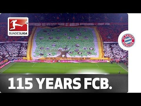 Happy Birthday Fc Bayern! Great Fan Choreography For 115th Anniversary video