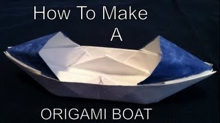 How To Make A Origami Boat