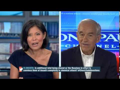 Ron Paul Talks Syria, NSA, Wikileaks: MSNBC Still Says Racist