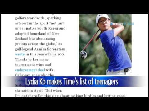 Korean-Kiwi golfer Lydia Ko makes most influential teens' list / YTN