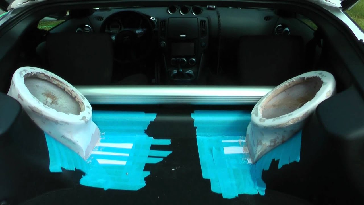 Nismo 370z My First Attempt At Fiberglass Subwoofer