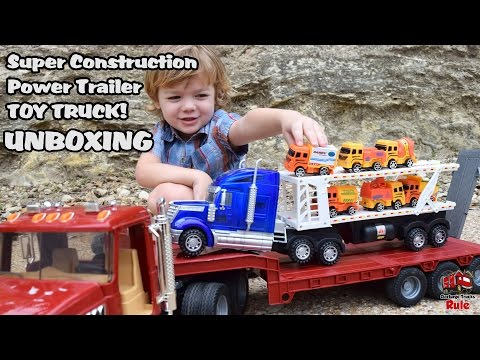 Garbage Truck Videos For Children / Super Construction Trailer Truck UNBOXING l Garbage Trucks Rule
