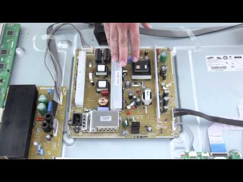 Plasma TV Repair - No Image. No Picture on TV Screen - How to Replace Power Supply Board