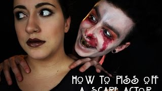 HOW TO PISS OFF A SCAREACTOR | #VLOGOWEEN