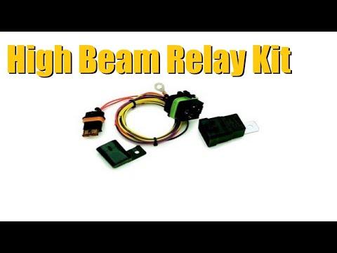 High Beam Headlight Relay Kit Upgrade Gm Trucks Youtube