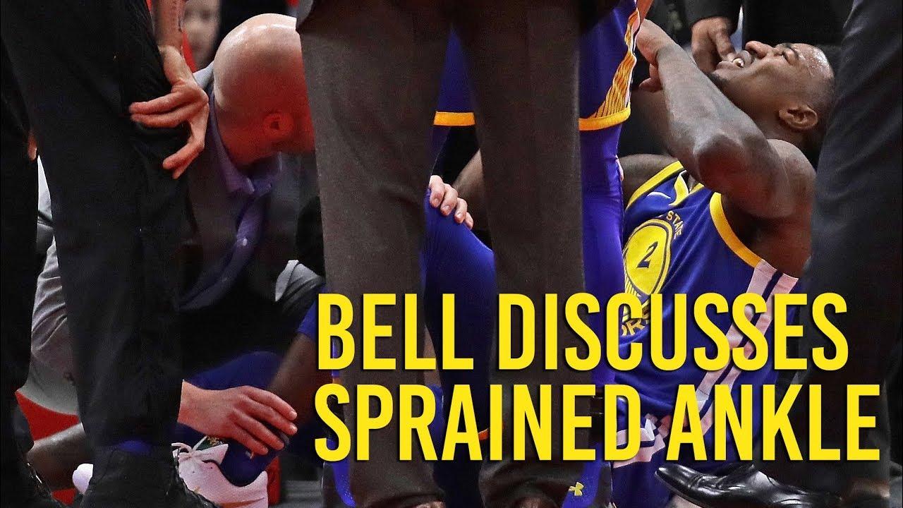 Warriors' Jordan Bell on ankle sprain against the Bulls