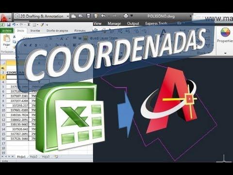 Pasar Coordenadas de Excel a AutoCAD