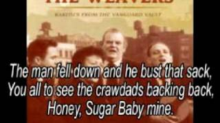 The Crawdad Song - The Weavers - (Lyrics)
