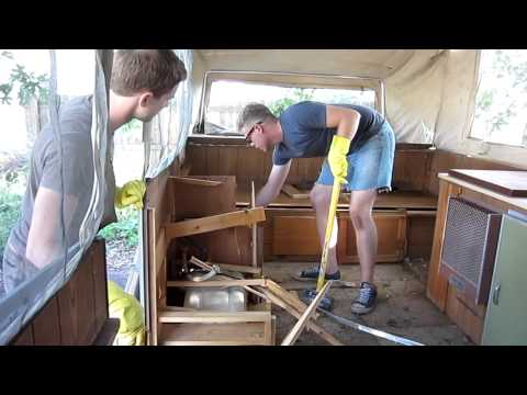Captain's Blog 8-5-11 Juggalo Camper Demolition and Cafe Electrical Progress