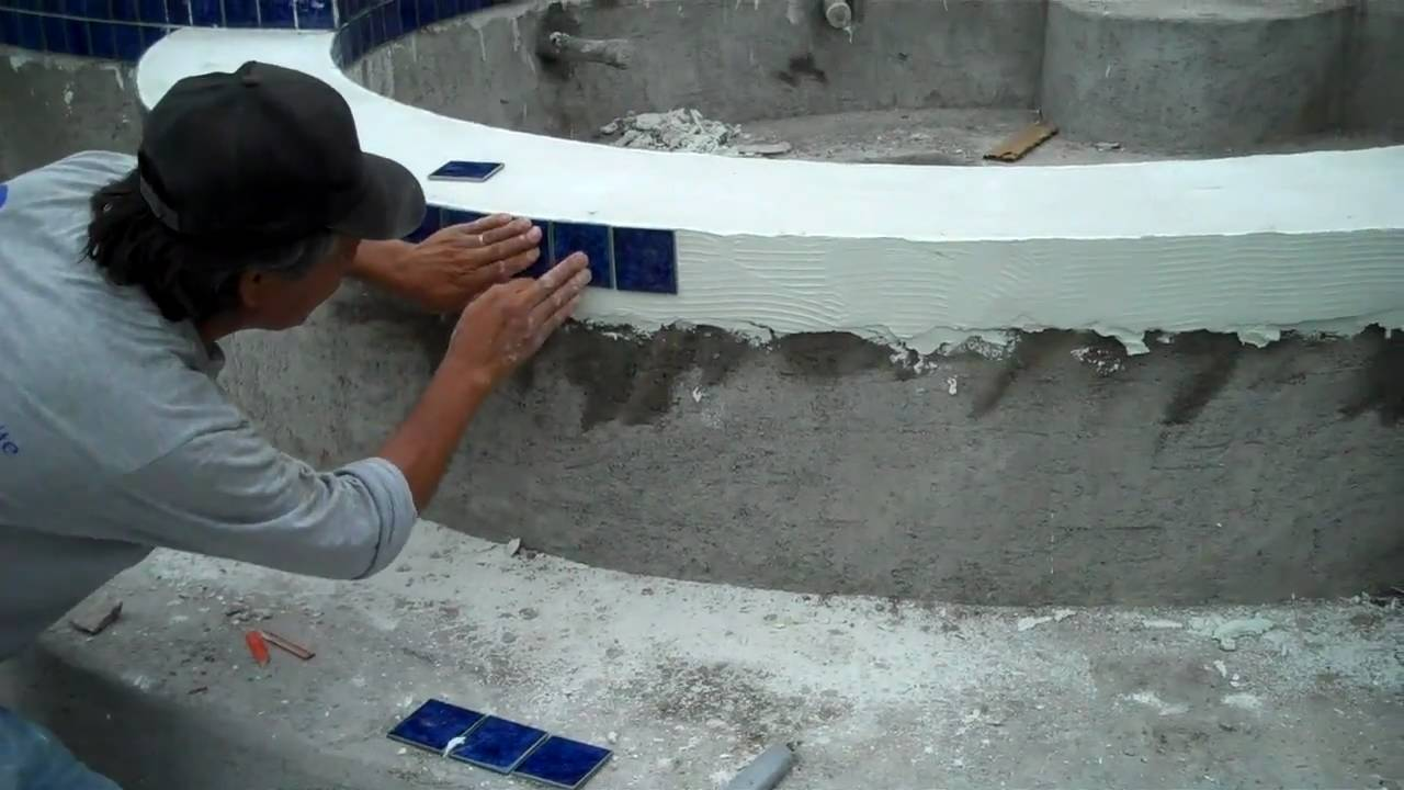 Swimming Pool Coping And Tile Work Youtube