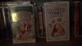2 Different VHS Versions of The Many Adventures of Winnie the Pooh