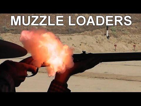 Black Powder Muzzleloader Rifles Slo-Mo Study