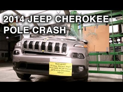 2014 Jeep Cherokee   Pole Crash Test   CrashNet1