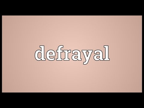 Header of defrayal