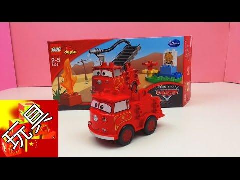 Disney 迪士尼 LEGO 樂高  Cars 2 汽車總動員  大紅 消防車 玩具組 套裝 組裝 展示