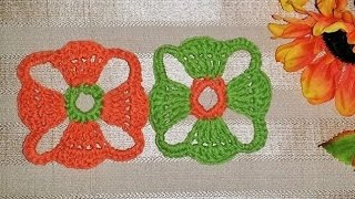 Crochet A Square Flower Motif With Me