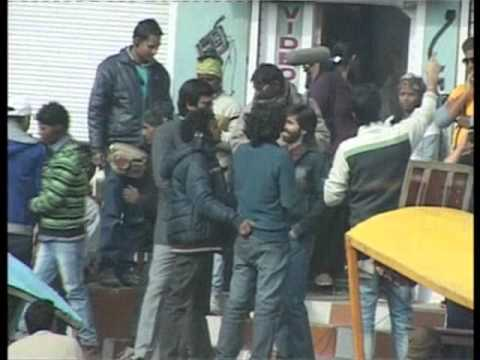 Shahid, Shraddha  shooting for  'Haider' in Srinagar on Saturday