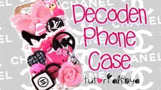 ♡ How To Decoden a Phone Case ♡ {Making of Pink Girly Case}