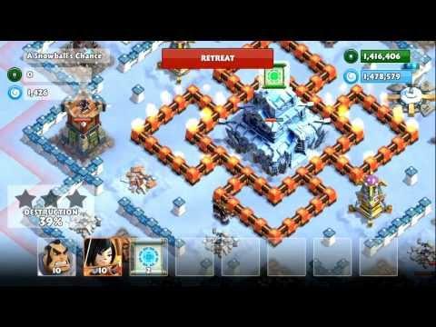 Samurai Siege Mission #34b A Snowballs Chance (Unlock: Snowball Scroll) - level 2 troops