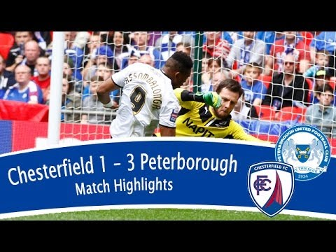Chesterfield 1-3 Peterborough United - Johnstone's Paint Trophy Final