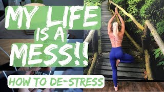 My life is a MESS!! How to De-Stress + Fat burning weights workout