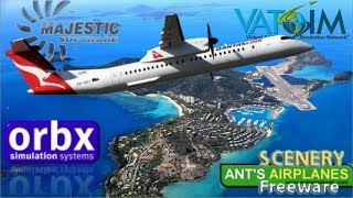 Majestic Dash-8 Q400 Cairns to Hamilton Island on Vatsim