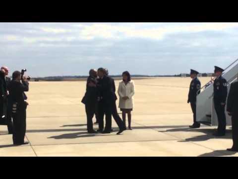 Nikki Haley  greets president Obama