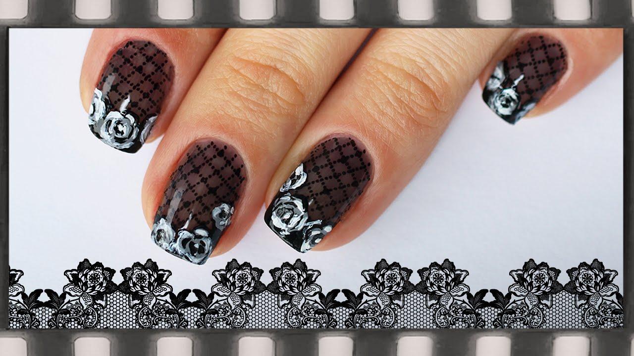 Простой новогодний дизайн ногтей пошагово