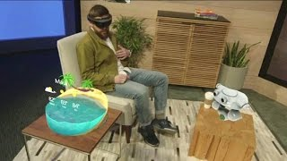 CNET News - Microsoft shows how its 3D holographic tech will work in your living room