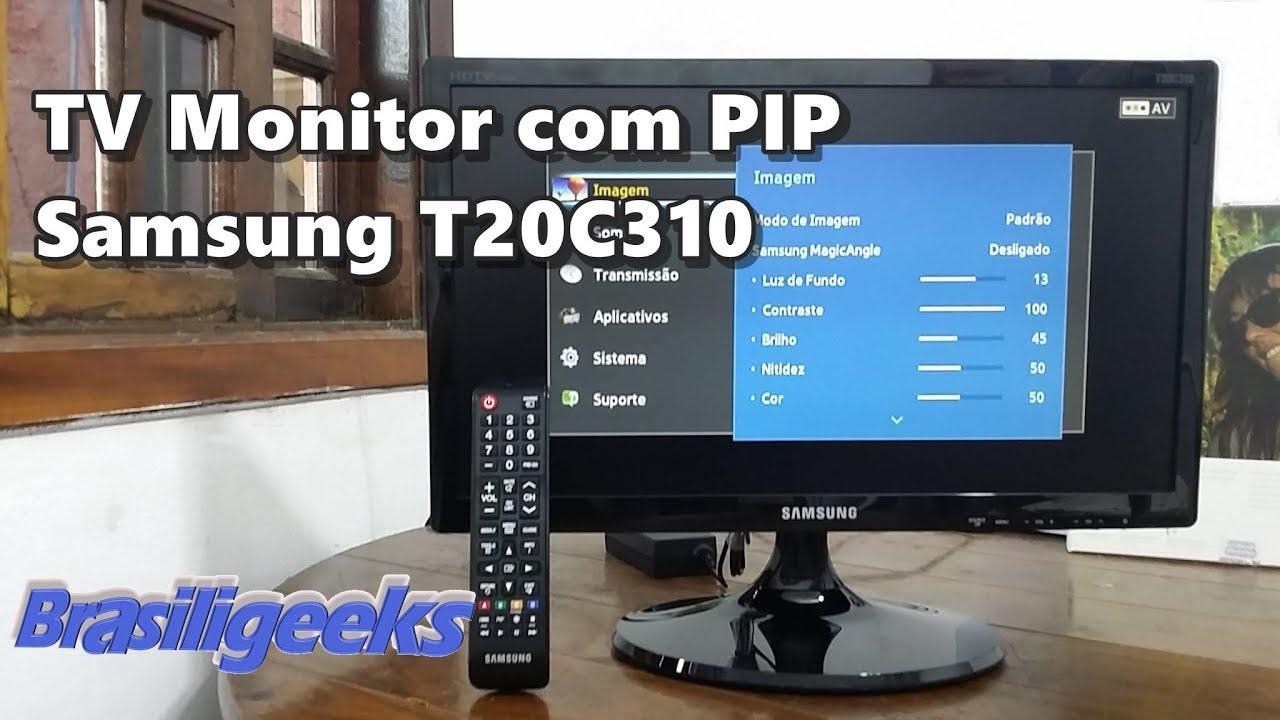 Tv Monitor Samsung 20 Quot Com Pip Lt20c310lb Youtube