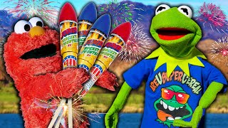 Kermit the Frog and Elmo's 4th of July Clothing Store!