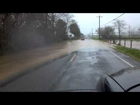 SMITH RIVER CA FLOODED ROAD 2012